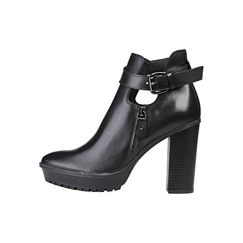 19V69 Emmanuelle - Zapatos Abotinados Mujer Negro