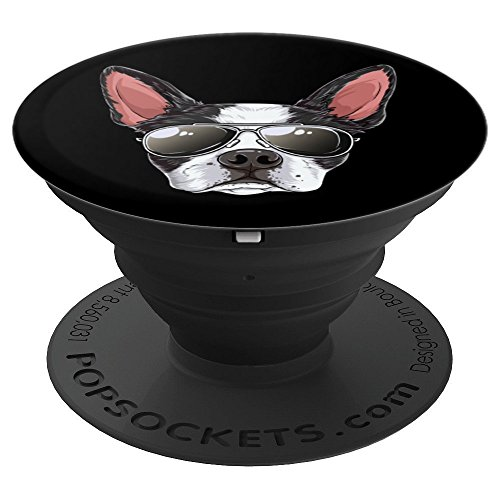 Boston Terrier Sunglasses Funny Dog Meme Puppy Lovers Gifts - PopSockets Grip and Stand for Phones and Tablets