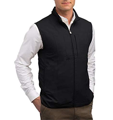 SCOTTeVEST RFID Travel Vests for Men with Pockets - Rugged Travel Clothing (BLK XXLTZ)