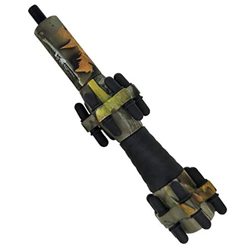 CUPID 6.5 inch Compound Bow Stabilizers Reduce Shock Absorber Stabilizer (Camouflage)
