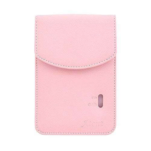 LG PD261 Portable Mobile Pocket Photo Printer [Pink] + Zink Sticker Paper 90 Sheets + Atout Premium Synthetic Leather Case [Pink] with Gift USB Cable [International Version]