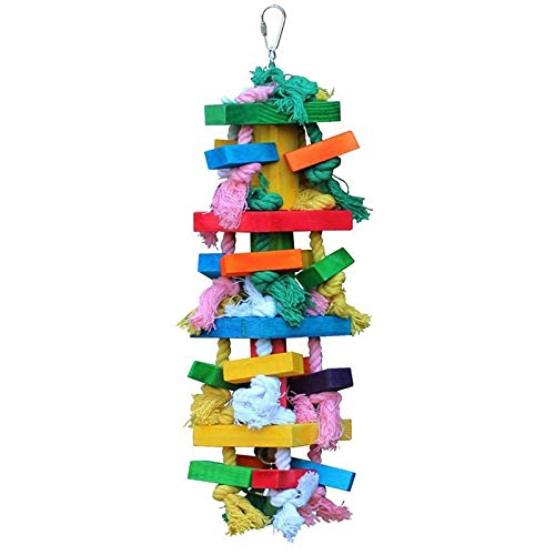 Best Quality Bird Chewing Toy Large Medium Parrot Cage Bite Toys African Grey Macaws, Large Bird Gym - Bird Wood Ladder, Bird Toys with Bells, Small Parrots, African Grey Parrots for Sale by KAN-X