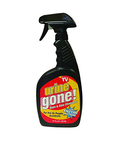 Urine Gone Stain & Odor Eliminator: Professional Strength Fast-Acting Enzyme-Based Solution, Instantly Penetrates and Neutralizes into the Fibers of a Carpet,  Stops Pets from Remarking (Getting Rid Of Dog Urine Smell On Wood)