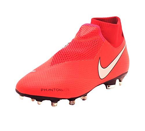 - Nike Mens Phantom Vision Pro DF FG Soccer Cleats (Bright Crimson/Metallic Silver, 9 M US)