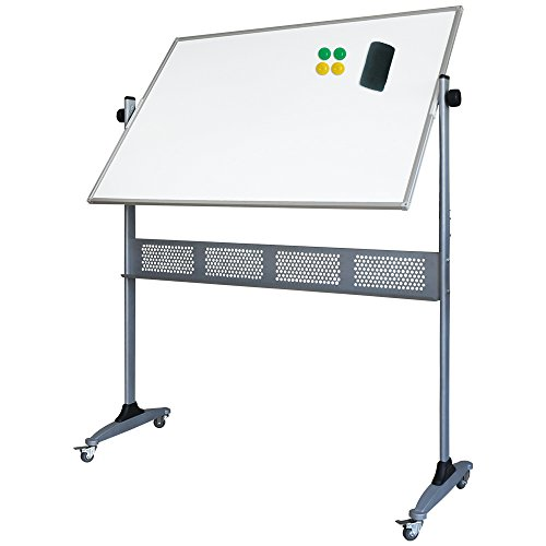 xiwode double sided magnetic mobile whiteboard large rolling dry erase board with stand. Black Bedroom Furniture Sets. Home Design Ideas