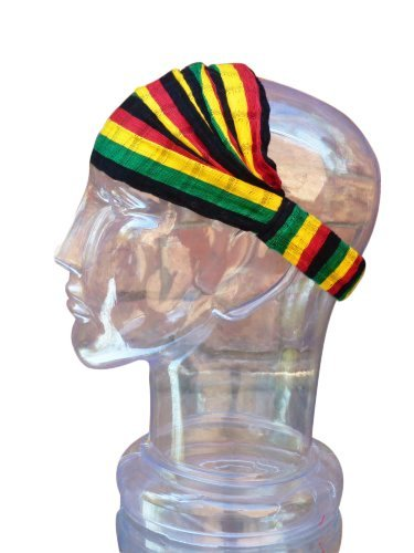 Medium Headband Cotton Rasta Reggae Expandable Handwoven