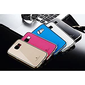 LHY Aluminum Metal Frame with Acrylic Back Case for Samsung Galaxy S6 , Champagne