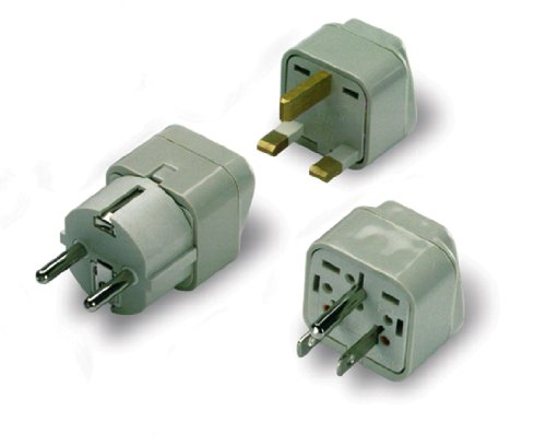 - Lewis N. Clark  Grounded Great Britain/Africa Adapter Plug, Black, One Size