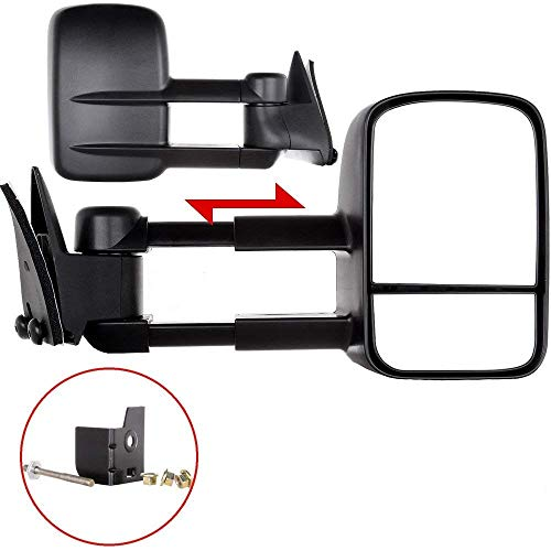 ECCPP Towing Mirror Replacemen for 88-98 Chevy/GMC C/K1500 88-00 C/K2500 3500 92-99 Suburban C/K1500 2500 Tahoe Yukon Truck/2000 Chevy Tahoe GMC Yukon V8 5.7L Manual Telescoping Side View Door Mirrors