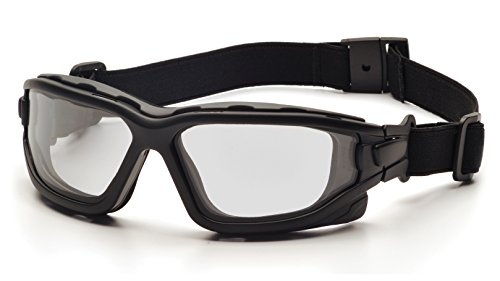 Pyramex I-Force Sporty Dual Pane Anti-Fog Goggle, Black Frame/Clear Anti-Fog Lens