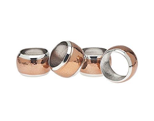 Godinger Hammered Napkin Ring, Set of 4, Copper