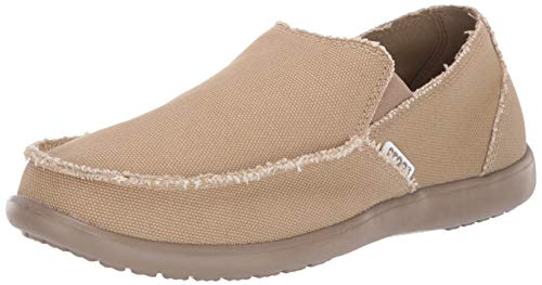 Crocs Mens Santa Cruz Loafer   Casual Comfort Slip On   Lightweight Beach or Travel Shoe