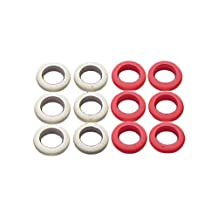 Imperial Bumper Pool/Billiard Table Replacement Rubber Bumper Post Rings, Red/White, Pack of 12