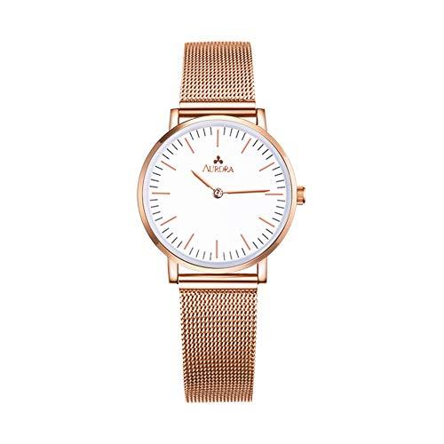 Aurora Women's Classic Analogue Quartz White Dial Wrist Watch 32mm