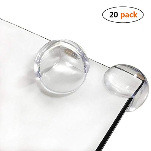 Corner Guards Clear Corner Protector Baby Safety Proofing Child Proof Edge Cushion for Furniture Tables & Sharp Corners 20 Pack (Transparent) from BOBKY