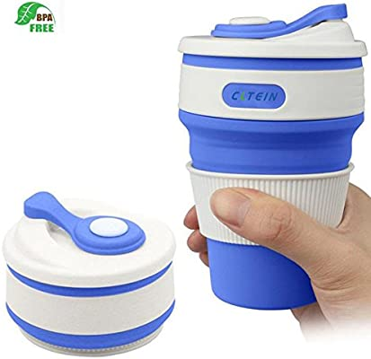 Collapsible 12oz Foldable Cup Office camping Cups And With For Safe Coffee HikingMicrowave travel Travel Dishwasher Lid doxerCB