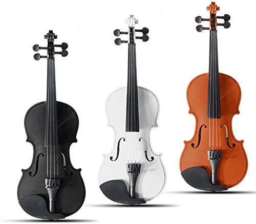 ACHKL 4//4 Full Size Basswood Natural Acoustic Violin Fiddle with Case Rosin Bow Multi-color ACHKL