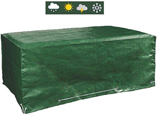 Glorytec Abdeckplane Gartenmöbel 200x160x70 - Gartenmöbel Abdeckung Wasserdicht Schutz vor Wind und Wetter - Schutzhülle für eckige Gartentische und Schutzhaube für Garten-Lounge Sitzgarnitur