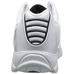 K-Swiss Men's ST329 CMF Training Shoe, White/Black/Silver, 10.5 XW US