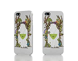 Apple iPhone 4 / 4S Case - The Best 3D Full Wrap iPhone Case - nature trees flowers clocks artwork white hair diamonds simple background jthree concepts jared nick