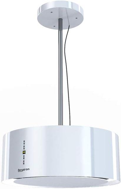 Campana extractora OLE de BERGSTRÖM, redonda, de acero inoxidable 50 cm blanco brillante: Amazon.es: Grandes electrodomésticos