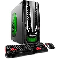 2017 Newest iBUYPOWER WA550G Business Flagship Gaming Desktop PC AMD FX-4300 Quad-Core Processor 8GB RAM 1TB HDD NVIDIA GeForce GT730 Graphics DVD-RW WIFI HDMI Windows 10-Black/Green