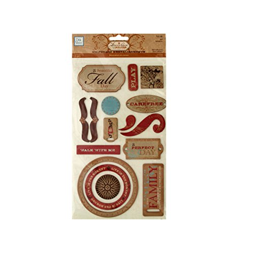 Fall Self-Adhesive Chipboard Embellishments-Package Quantity,120 by bulk buys