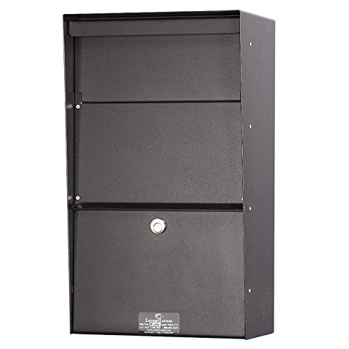 (Jayco LLAVW Wall Mount Vertical Aluminum Letter Locker Mailbox Bronze )