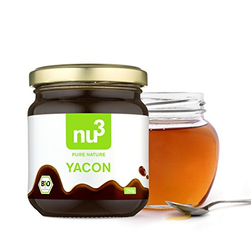 nu3 Organic Yacon Syrup 250g - Low Glycemic Sugar Substitute/Replacement,...