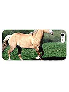 3d Full Wrap Case for iPhone 5/5s Animal Beautiful Horse On The Field