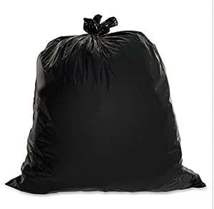 Genuine Joe GJO01534 Extra-strong Heavy-Duty 45 Gallon Trash Bags Black Garbage Bag - Low-Density - 1.50 mil Thickness - 45 Gallon Capacity - 50/ Box