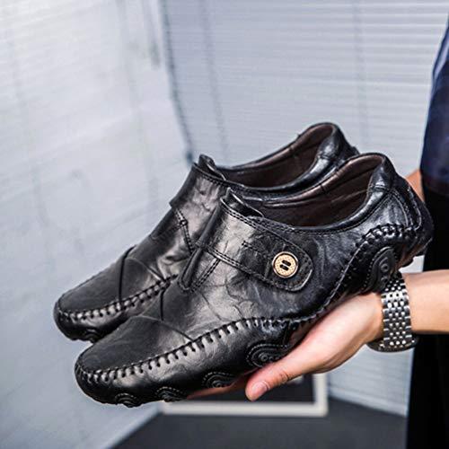 De on Negro Pisos Mocasines Zapatos Clásicos Hombres Los Conducción Transpirables Casuales Vestido Slip Fiesta 57XOnxOgI