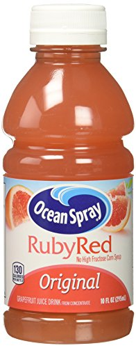 Ocean Spray Ruby Red Grapefruit Juice, 10 Ounce (Pack of 6)