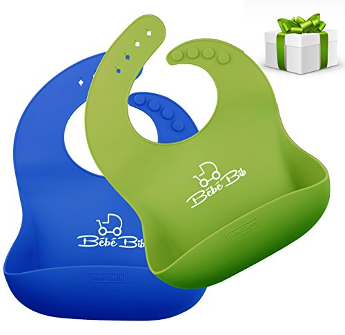Silicone Disposable Bib Baby Bib children (Green) - 7