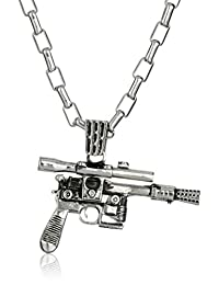 Star Wars by Han Cholo Unisex HC Blaster Silver Pendant Necklace, 30""
