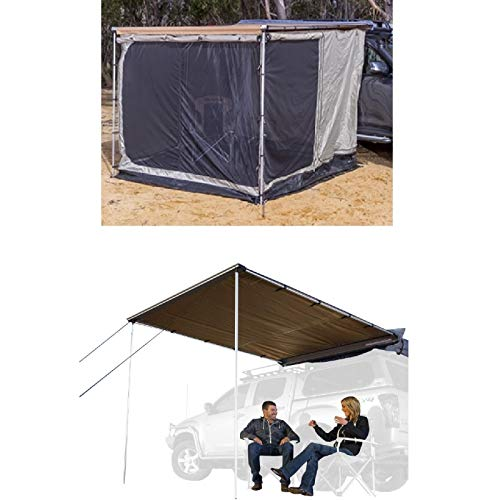 ARB 813208A 814201 Heavy Duty Awning Room Deluxe with Floor 2000mm x 2500mm & Awning ()