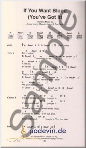 AC/DC – The Little Black Songbook – acordes de guitarra: Amazon.es ...