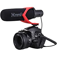 Comica CVM-V30 Shotgun Camera Microphone Super-Cardioid Directional Condenser Photography Interview Lightweight Video Microphone for Nikon DSLR and Fit 3.5mm Port Canon Cameras(Red)