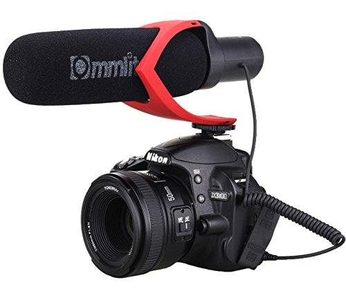Comica CVM-V30 Shotgun Camera Microphone Super-Cardioid Directional Condenser Photography Interview Lightweight Video Microphone for Nikon DSLR and Fit 3.5mm Port Canon Cameras(Red) (Canon Microphone T2i)