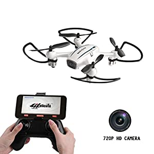Cellstar H816HW WiFi FPV Drone with 720P HD Camera Live Video and Altitude Hold 2.4GHz 4CH 6-Axis Gyro RC Quadcopter with 2 Batteries for Enthusiasts from Cellstar Co.,Ltd