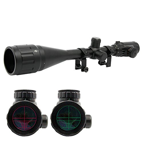 SOLOMONE-CAVALLI-6-24x-50-AO-Red-Green-Rangefinder-Mil-dot-Illuminated-Optics-Rifle-Scope-wRing-for-Long-Range-Hunting-Airsoft-5-Batteries-Included