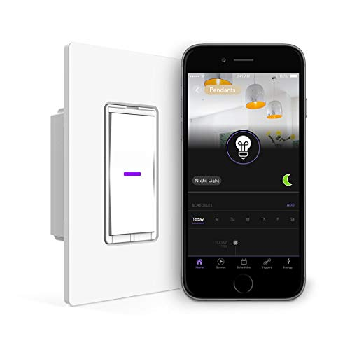iDevices Wall Switch - Wifi Smart Light Switch, No Hub Required, Single Pole/3 4-Way Set up, Works with Alexa