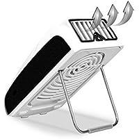 Dreamtop Mini Usb Bladeless Fan Chargeable Creative Air Conditioning Fan Summer Personal Pocket Fan (Black)