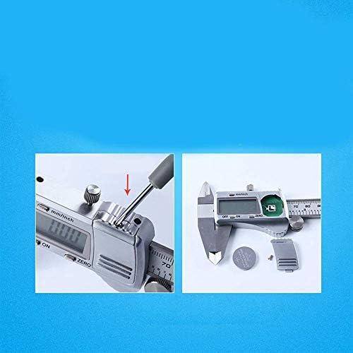 ZUQIEE Measuring Gauge, Electronic Digital Display Digital Vernier Caliper Stainless Steel High Precision Measuring Tool 0-150mm (Size : 0-150mm)