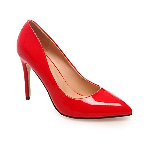 La Modeuse stilettos-Sandalias de cocina en punta con orificio, diseño de pintauñas Rojo - rojo