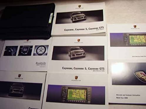 2008 porsche cayenne cayenne s and cayenne gts owners manual rh amazon com 2008 porsche cayenne turbo repair manual 2008 Porsche Cayenne S Review