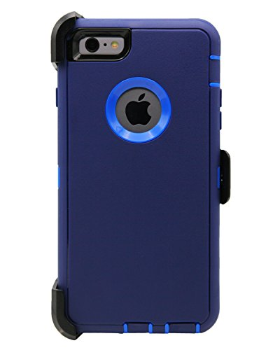 Soft Commuter Case for Apple iPhone 6 Plus (Navy Blue) - 2