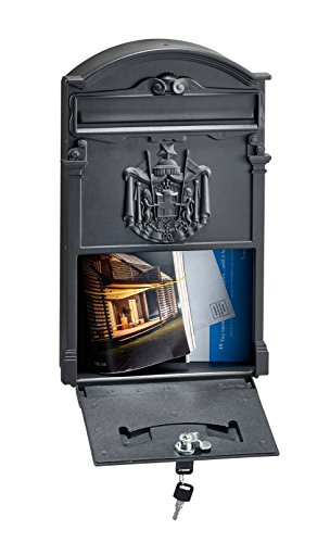AdirHome Black Steel Old Europe Mailbox by AdirHome (Image #3)