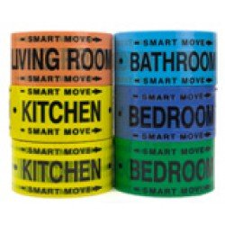 Moving Supplies - 2 Room Labeling Tape--tape for Your Bedroom, Living Room, Bathroom and Kitchen! Organize While Packing!