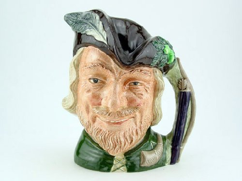 Royal Doulton Robin Hood New Large D6527 Character Jug (Robin Hood Toby Jug compare prices)